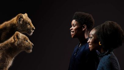 JD McCrary and Shahadi Wright Joseph are the voice of Young Simba and Young Nala in THE LION KING (2019)