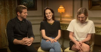 Allen Leech, Michelle Dockery and Laura Carmichael, from the cast of DOWNTON ABBEY (2019)