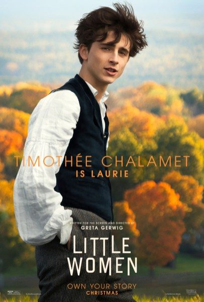 Timothee Chalamet co-stars as Laurie in Greta Gerwig's adaptation of LITTLE WOMEN (2019)
