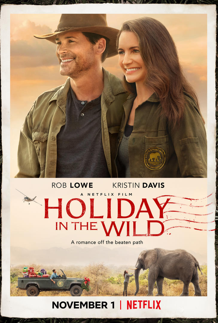 Poster for Netflix's Africa-set Christmas romance HOLIDAY IN THE WILD (2019)