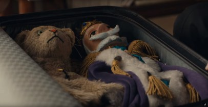 Puppets of Henrietta Pussycat and King Friday in the Mr. Rogers movie A BEAUTIFUL DAY IN THE NEIGHBORHOOD (2019)