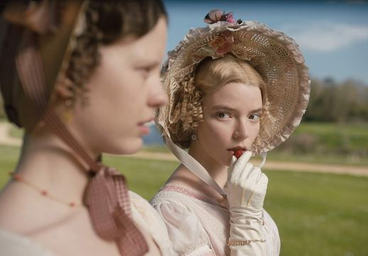 Mia Goth (Harriet) and Anya Taylor-Joy (Emma) star in the adaptation of Jane Austen's EMMA (2019)