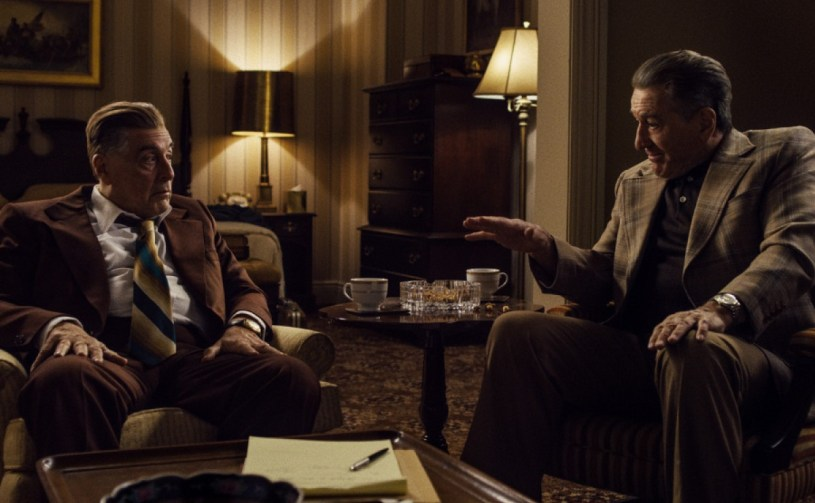 Al Pacino (as Jimmy Hoffa) and Robert De Niro (as Frank Sheeran) star in Martin Scorsese's mob epic THE IRISHMAN (2019)