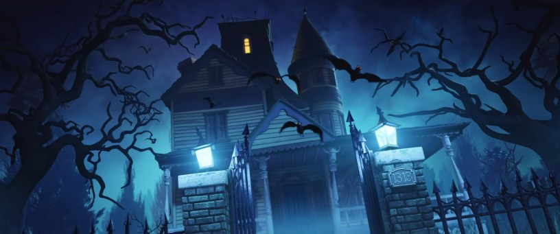 A haunted house in the new animated feature SCOOB! (2020)