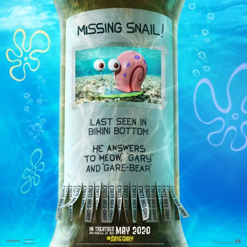 Wanted Poster One Sheet Poster for THE SPONGEBOB MOVIE: SPONGE ON THE RUN (2020)
