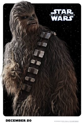 Chewbacca Character Poster for STAR WARS: THE RISE OF SKYWALKER (2019)
