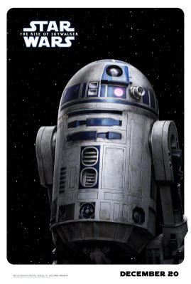 R2D2 Character Poster for STAR WARS: THE RISE OF SKYWALKER (2019)