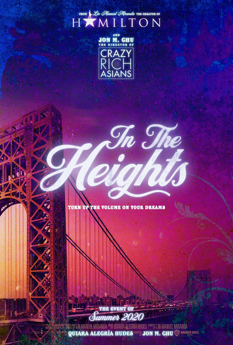 One Sheet Poster for the adaptation of Lin-Manuel Miranda's Tony Award winning Best Musical IN THE HEIGHTS (2020)