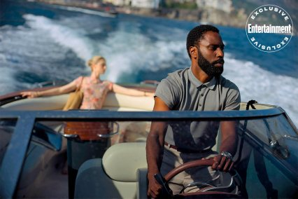 Elizabeth Debecki and John David Washington star in Christopher Nolan's TENET (2020)