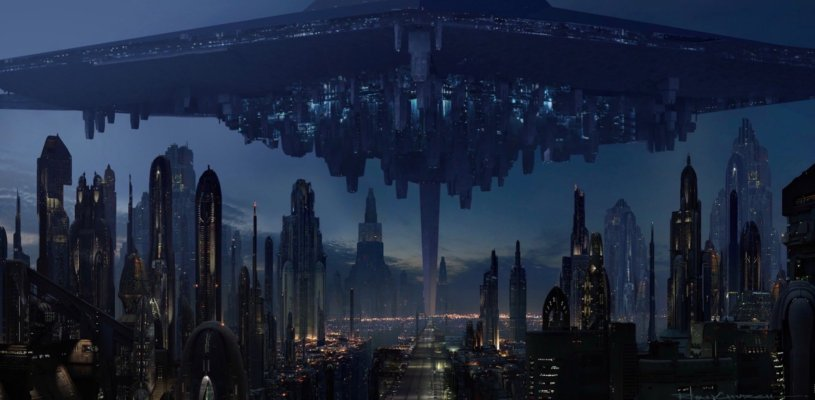 The First Order has taken over the city planet Coruscant in STAR WARS: DUEL OF THE FATES