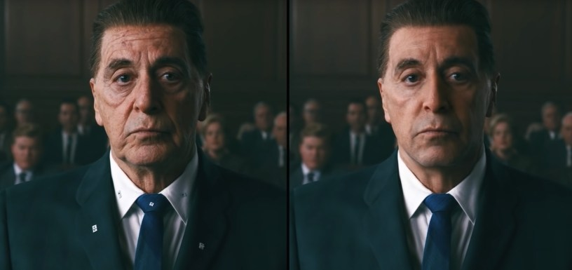 ILM's new de-aging technology applied to Al Pacino in THE IRISHMAN (2019)
