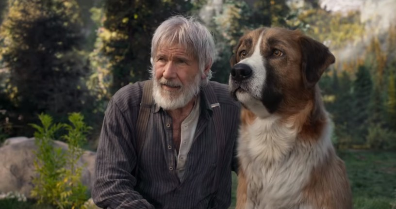 Harrison Ford stars as John Thornton alongside a digital Buck in Jack London's CALL OF THE WILD (2020)