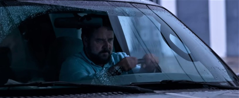 Russell Crowe stars as a man with a severe case of road rage in UNHINGED (2020)