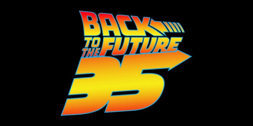 The 35th Anniversary logo for BACK TO THE FUTURE (1985), which opened on July 3, 1985.