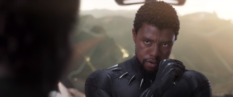 Chadwick Boseman plays King T'Challa / Black Panther in Marvel's BLACK PANTHER (2018)