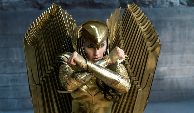 Wonder Woman (Gal Gadot) is glad in pure gold armor in the DCEU sequel WONDER WOMAN 1984 (2020)