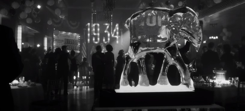 "A Hollywood New Year's Eve party in MANK (2020), Netflix's ""writing of CITIZEN KANE"" biopic from director David Fincher."