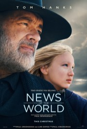 One Sheet Poster for the Paul Greengrass Western NEWS OF THE WORLD (2020)