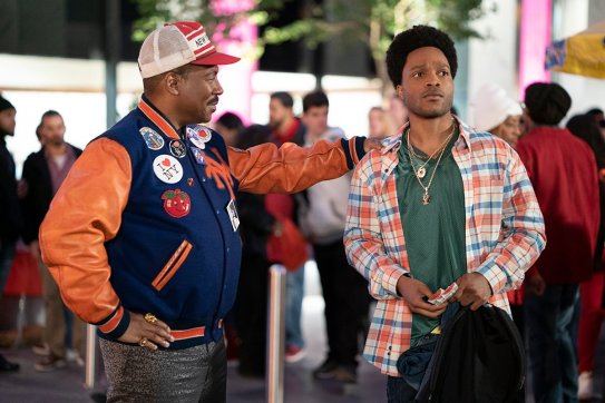 Eddie Murphy and Jermaine Fowler star in the Amazon Prime comedy sequel COMING 2 AMERICA (2021)
