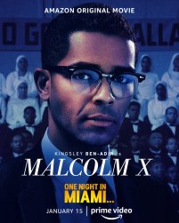 One Sheet Poster for Malcom X (Kingsley Ben-Adir) for the Amazon Prime film ONE NIGHT IN MIAMI... (2020)
