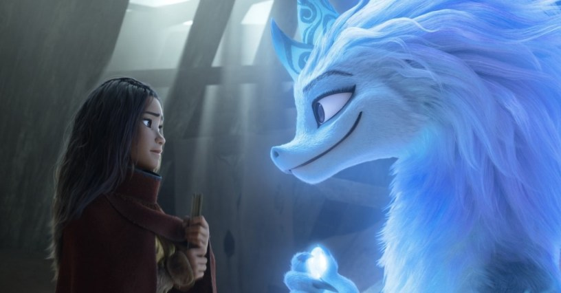 Kelly Maria Tran and Awkwafina star, respectively, as the voices of the title roles in Walt Disney Animation's RAYA AND THE LAST DRAGON (2021)
