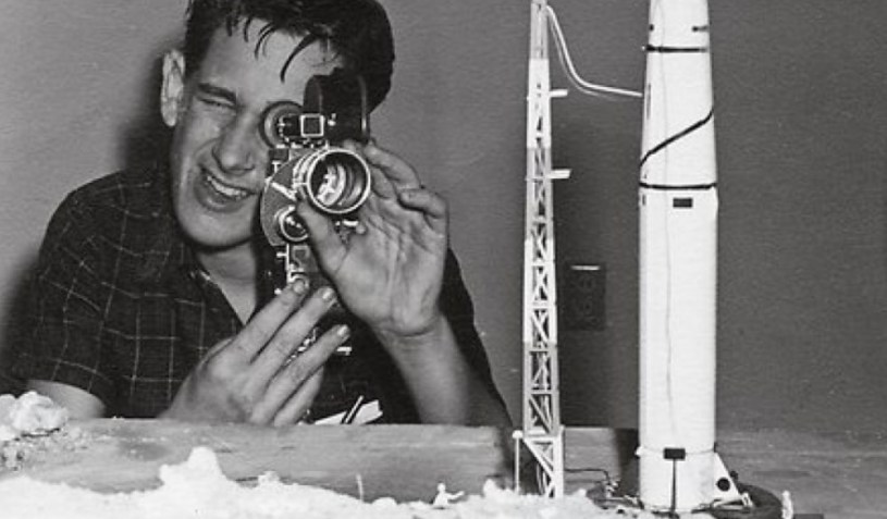 A teenage Steven Spielberg directs a home movie.
