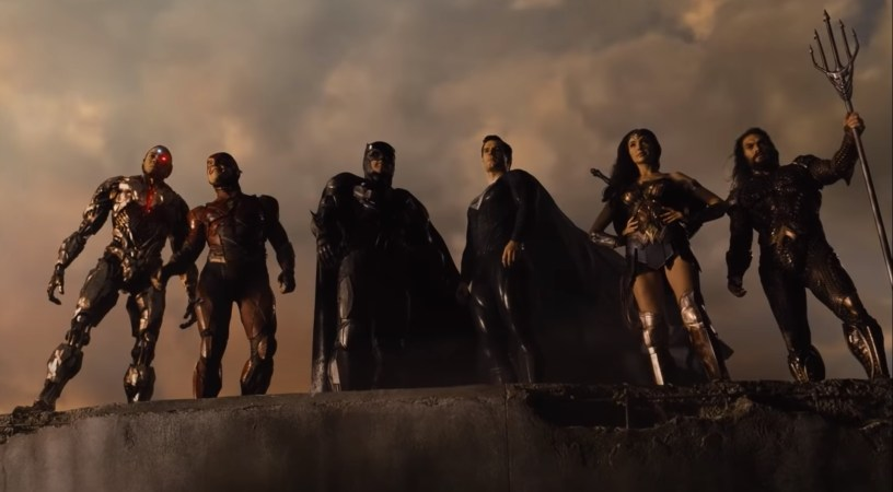 Ray Fisher (Cyborg), Ezra Miller (Flash), Ben Affleck (Batman), Henry Cavill (Superman), Gal Gadot (Wonder Woman), and Jason Momoa (Aquaman) star in the 4-hour HBO Max epic version of ZACK SNYDER'S JUSTICE LEAGUE (2021)