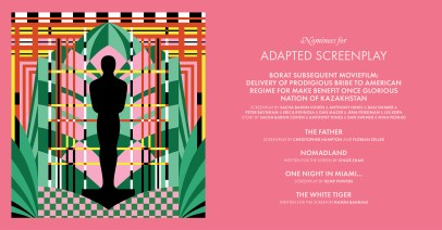 2021 Best Adapted Screenplay Nominees - Mister Michelle design