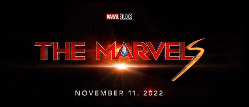 THE MARVELS Logo Title and Date