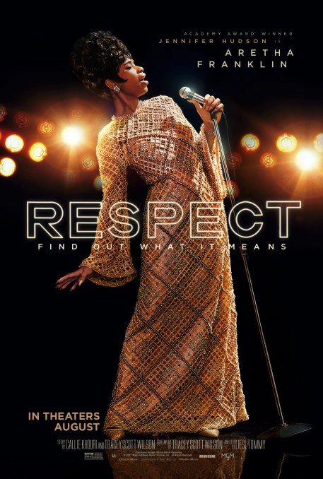 Official Movie Poster for the Aretha Franklin biopic RESPECT (2021)