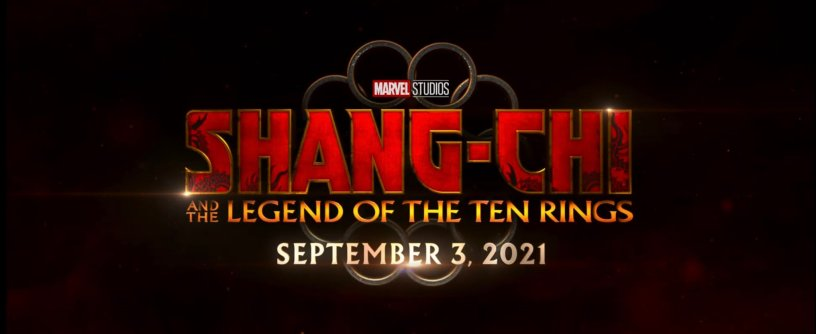 SHANG-CHI AND THE LEGEND OF THE TEN RINGS Logo Title and Date