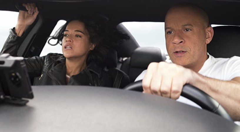 Michelle Rodriguez and Vin Diesel co-star in F9: THE FAST SAGA (2021)