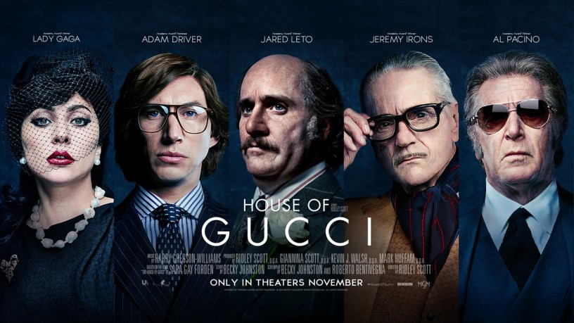 The cast of Ridley Scott's HOUSE OF GUCCI (2021)