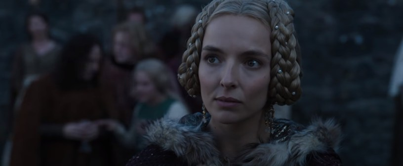 Jodie Comer stars as Marguerite de Carrouges in Ridley Scott's medieval French epic THE LAST DUEL (2021)