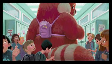 Concept Art for TURNING RED (2022), the new Pixar feature from Domee Shi, the Oscar-winning director of the studio's short film BAO.