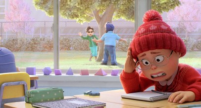 Mei Lee (voiced by Rosalie Chiang), a 13-year-old student who is embarrassed by her overprotective mother Ming (voiced by Sandra Oh) in Pixar's TURNING RED (2022)