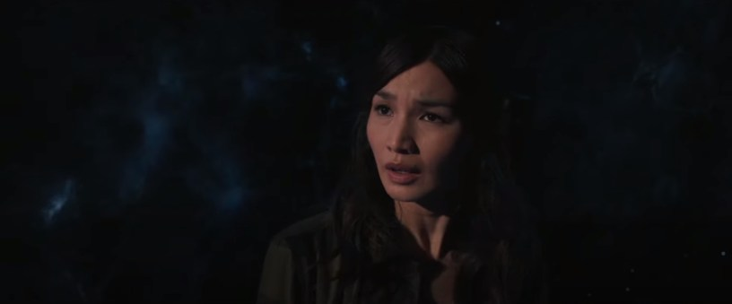 Gemma Chan co-stars as Sersi, an Eternal with compassion for humanity, in Marvel's ETERNALS (2021)