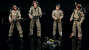Hasbro toys for the new kids of GHOSTBUSTERS: AFTERLIFE. Lucky (Celeste O'Connor), Trevor (Finn Wolfhard), Podcast (Logan Kim), and Phoebe (Mckenna Grace)