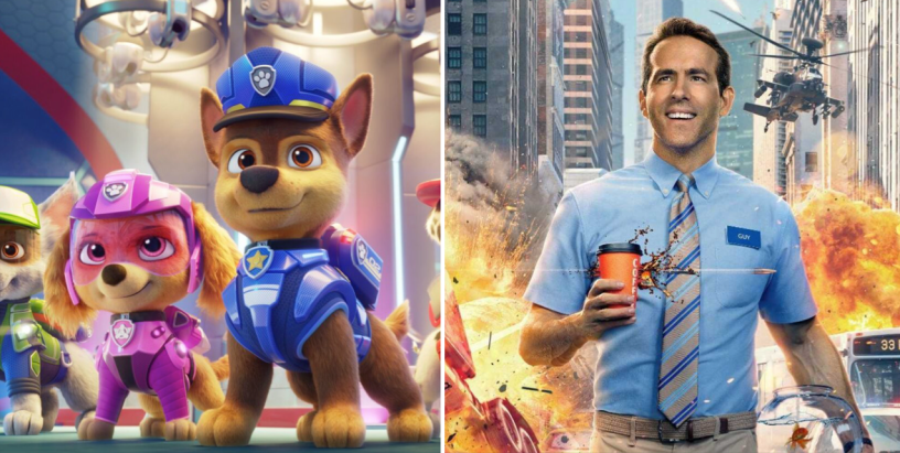 PAW PATROL and FREE GUY dominate the late August box office.