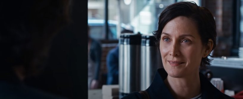 Carrie-Anne Moss returns as Trinity in THE MATRIX RESURRECTIONS (2021)