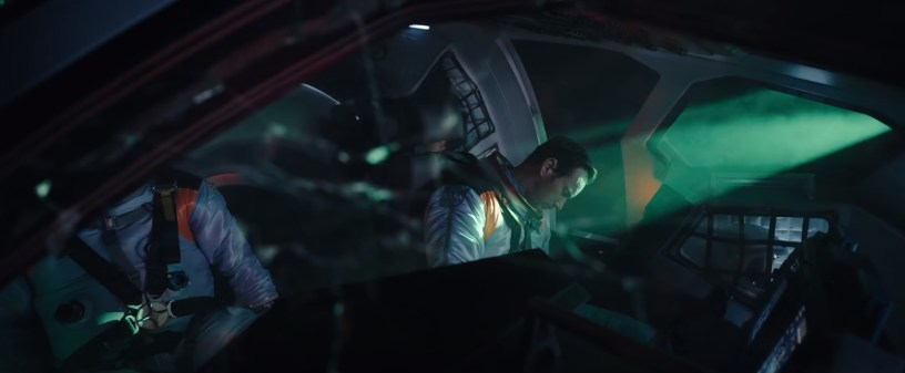 Patrick Wilson stars as astronaut Brian Harper in Roland Emmerich's sci-fi disaster flick MOONFALL (2022)