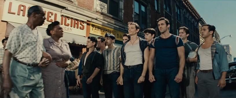 Mike Faist co-stars as Riff, the leader of the Jets, in Steven Spielberg's adaptation of WEST SIDE STORY (2021)