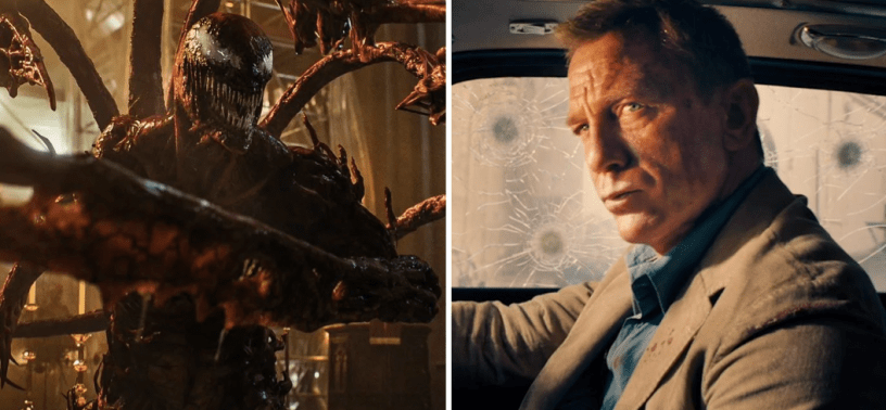 VENOM: LET THERE BE CARNAGE ate up North American box office while Bond's NO TIME TO DIE won the world.