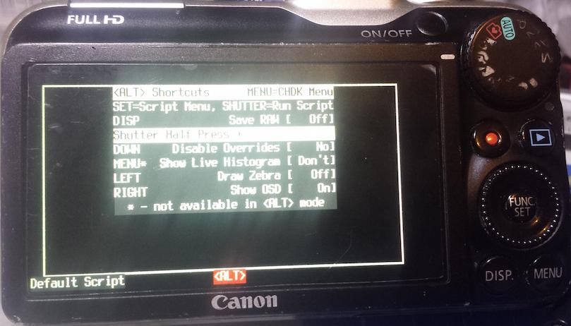 Installing CHDK to a Canon Powershot SX230 SH