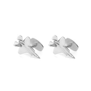 F35-A cufflink gift set made from reclaimed F-35 Aluminium