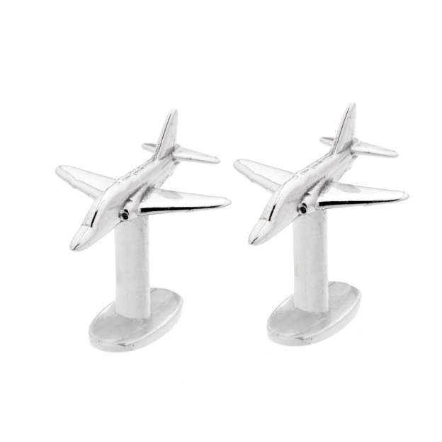 RAF Red Arrows Cufflinks made from Hawk T1 aluminium