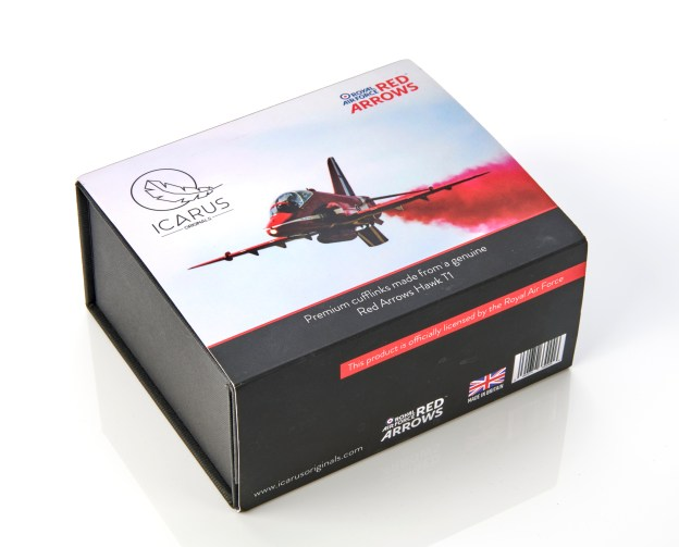 Red Arrows Cufflink Gift Set made from Hawk T1 Aluminium