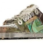 esculturas zapatillas geek reciclaje