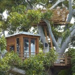 casa de madera en el árbol