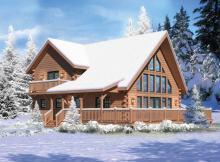 casa de madera 3 dorm